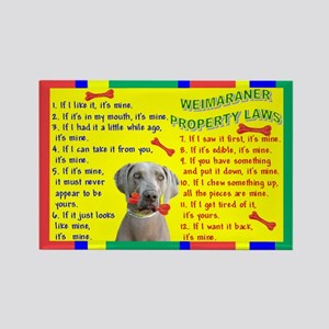 3-Property Laws -Weimaraner Magnets