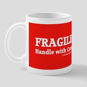 FRAGILE tag Mug