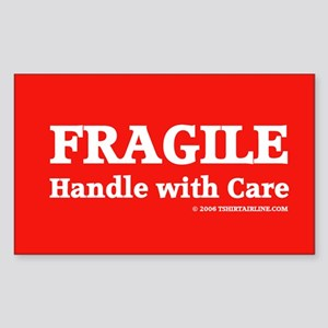 FRAGILE tag Rectangle Sticker