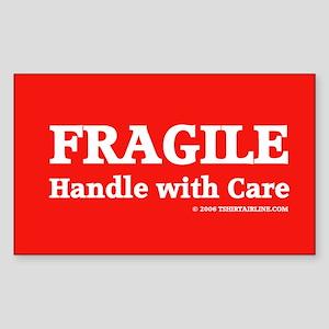 FRAGILE tag Rectangle Sticker