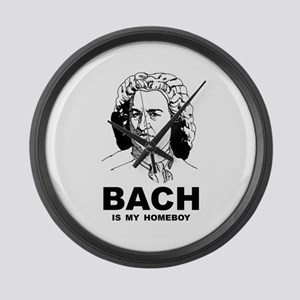 Bach Is My Homeboy Large Wall Clock