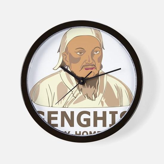 Genghis Is My Homeboy Wall Clock