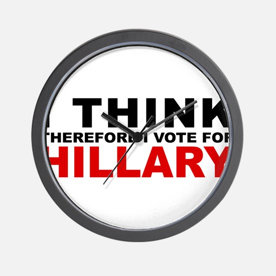 Vote For Hillary Wall Clock