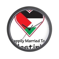 Happily Married Palestinian Wall Clock