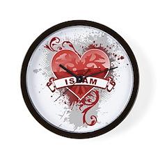 Heart Islam Wall Clock