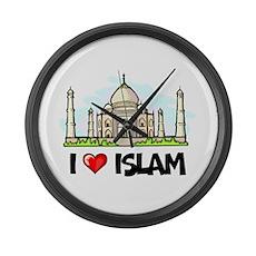 I Love Islam Large Wall Clock