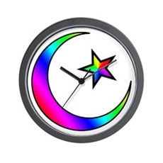 Rainbow Islamic Symbol Wall Clock