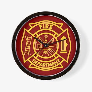 Firefighter Maltese Cross Wall Clock