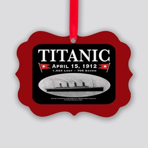 Titanic Ghost Ship (black/red) Picture Ornament