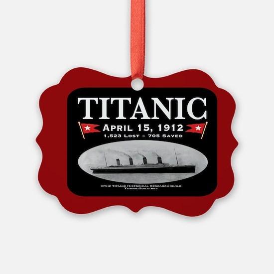 Titanic Ghost Ship (black/red) Ornament
