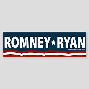 Romney-Ryan Stars and Stripes Sticker (Bumper)