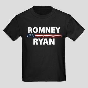 Romney Ryan Stars Stripes Kids Dark T-Shirt