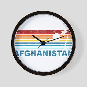 Palm Tree Afghanistan Wall Clock