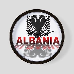 3D Albania Wall Clock