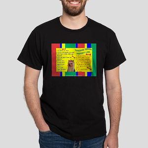 Yorkie (Long Hair) Black T-Shirt