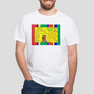 Yorkie (Long Hair) White T-Shirt
