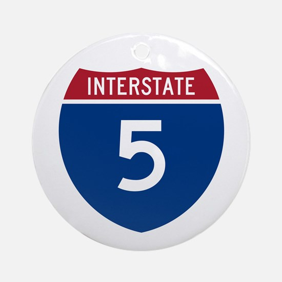 I-5 Highway Ornament (Round)