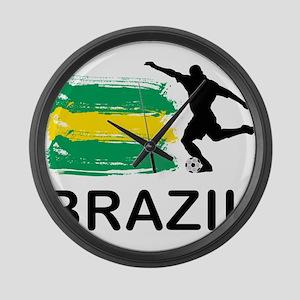 Brazil Football Large Wall Clock