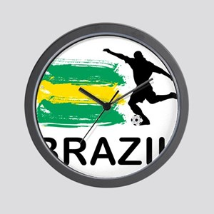 Brazil Football Wall Clock