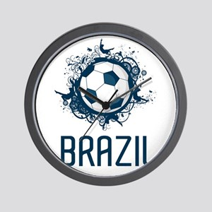 Hip Brazil Football Wall Clock