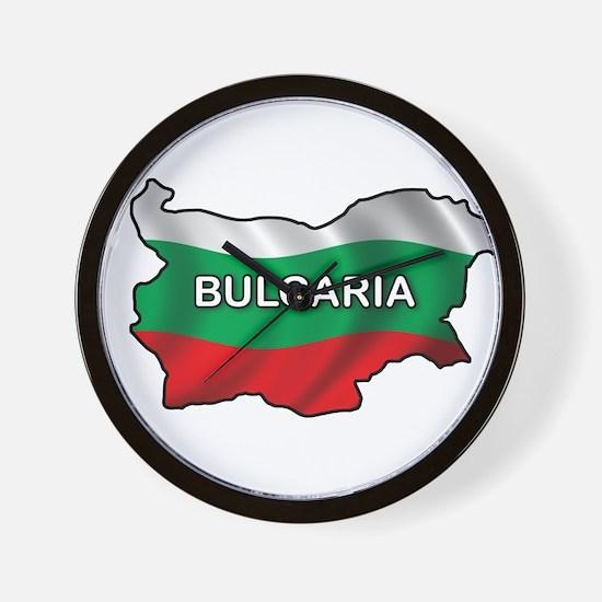 Map Of Bulgaria Wall Clock