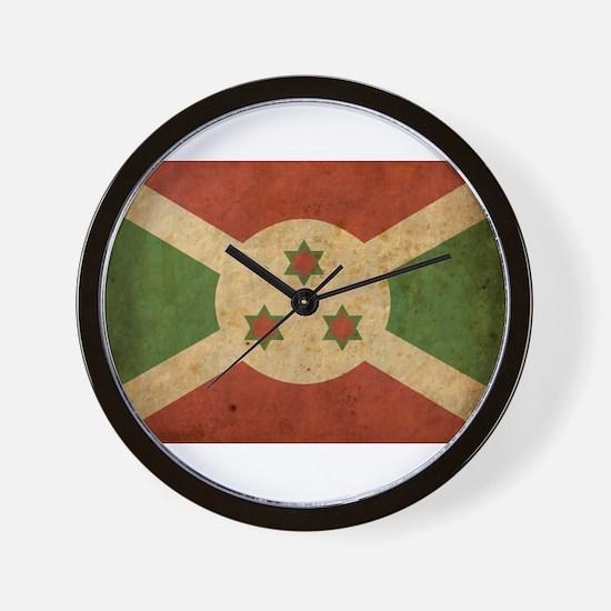 Vintage Burundi Wall Clock