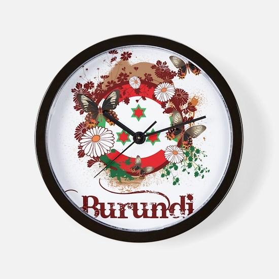 Butterfly Burundi Wall Clock