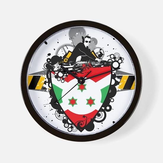 Hip Burundi Wall Clock
