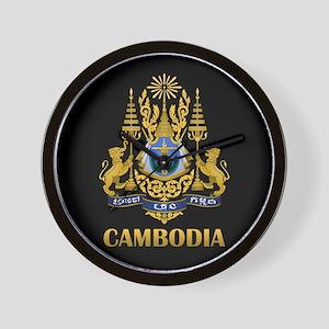 Cambodia Coat Of Arms Wall Clock