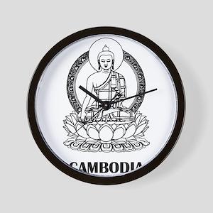 Cambodia Buddha Wall Clock