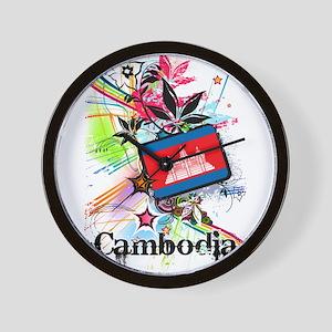 Flower Cambodia Wall Clock
