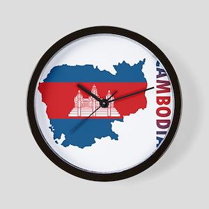 Map Of Cambodia Wall Clock