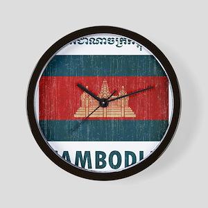 Vintage Cambodia Wall Clock