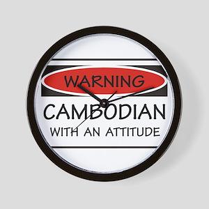 Attitude Cambodian Wall Clock