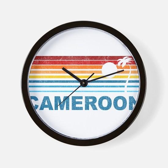 Palm Tree Cameroon Wall Clock