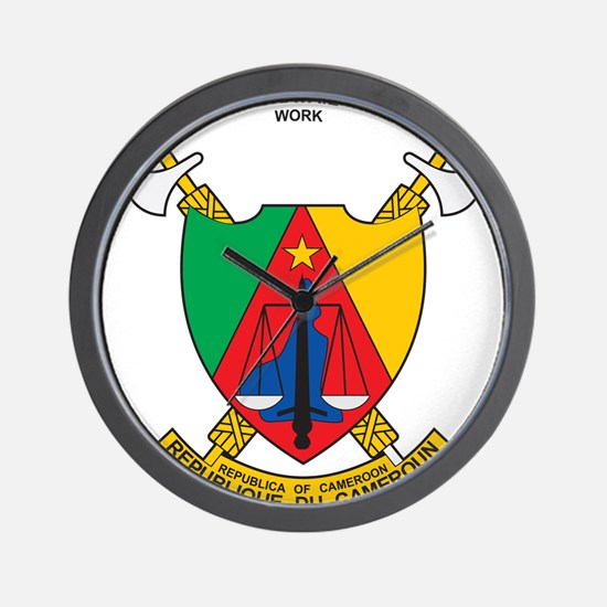 Cameroon Coat Of Arms Wall Clock