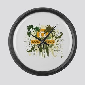 Palm Tree Costa Rica Large Wall Clock
