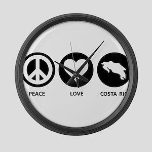 Peace Love Costa Rica Large Wall Clock