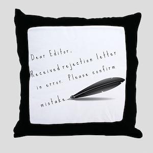 Dear Editor Throw Pillow