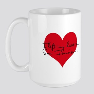 Heart in San Francisco Large Mug
