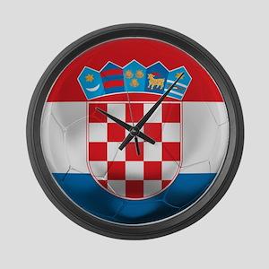 Croatia Football Large Wall Clock