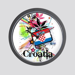 Flower Croatia Wall Clock