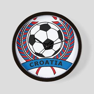 Soccer Croatia Wall Clock