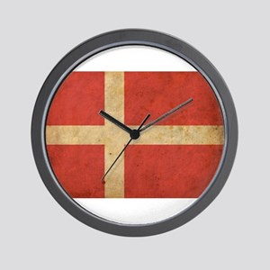 Vintage Denmark Flag Wall Clock