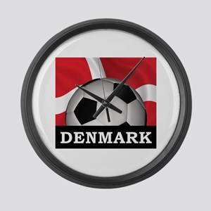 Denmark Football Large Wall Clock