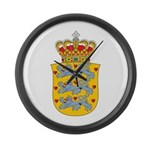 Denmark Coat Of Arms Large Wall Clock