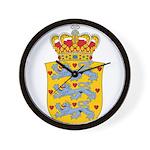 Denmark Coat Of Arms Wall Clock