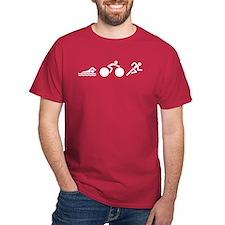 Swim Bike Run Icons Dark T-Shirt