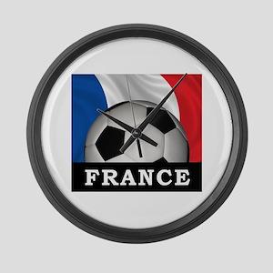 Football France Large Wall Clock