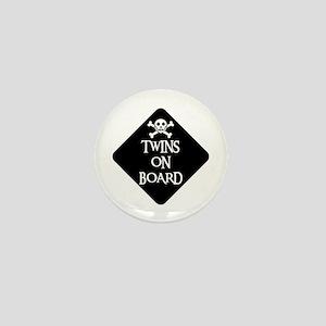 WARNING: TWINS ON BOARD Mini Button